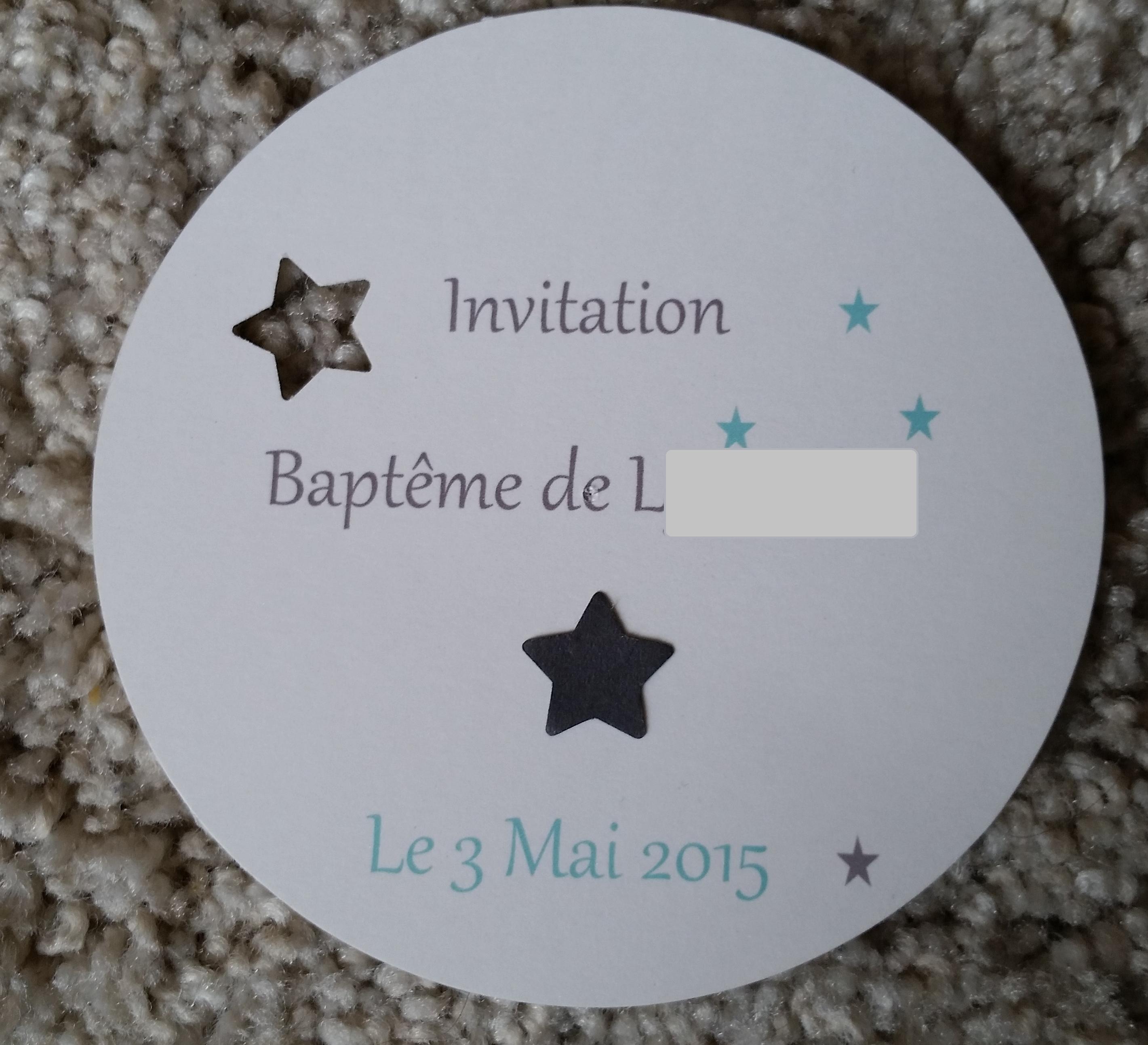Connu Le faire part de Baptême de Monsieur L. [DIY] | Chroniques d'une  KF64